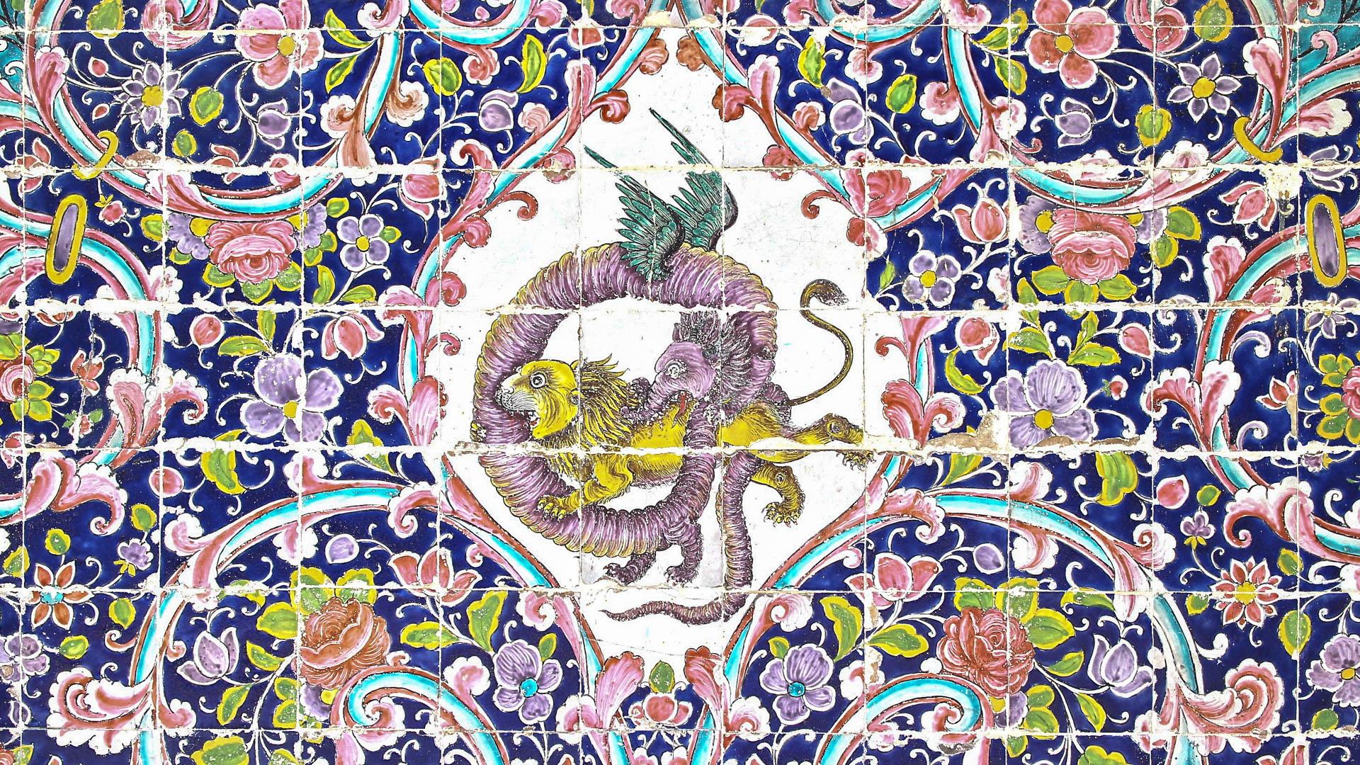 ゴレスタン宮殿(イラン)の壁タイル